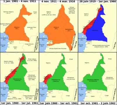 Kamerun im Laufe der Jahre